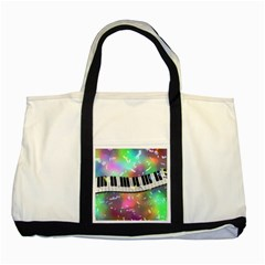 Piano Keys Music Colorful 3d Two Tone Tote Bag