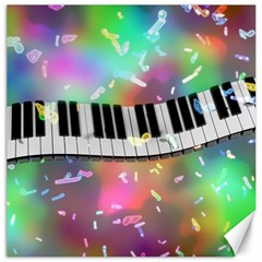 Piano Keys Music Colorful 3d Canvas 20  X 20