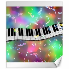 Piano Keys Music Colorful 3d Canvas 20  X 24