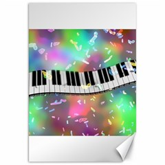 Piano Keys Music Colorful 3d Canvas 20  X 30