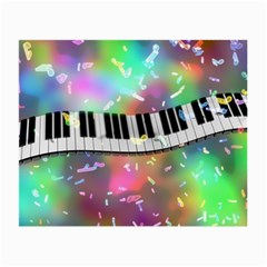 Piano Keys Music Colorful 3d Small Glasses Cloth (2 Side)