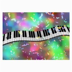 Piano Keys Music Colorful 3d Large Glasses Cloth (2 Side)