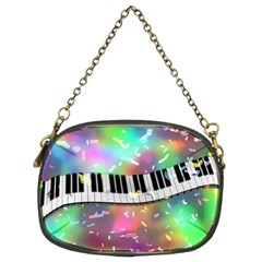 Piano Keys Music Colorful 3d Chain Purses (two Sides)