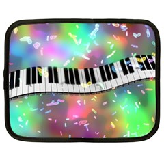 Piano Keys Music Colorful 3d Netbook Case (xxl)