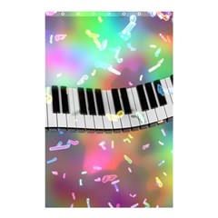 Piano Keys Music Colorful 3d Shower Curtain 48  X 72  (small)