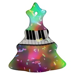 Piano Keys Music Colorful 3d Christmas Tree Ornament (two Sides)