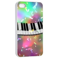 Piano Keys Music Colorful 3d Apple Iphone 4/4s Seamless Case (white)