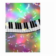 Piano Keys Music Colorful 3d Large Garden Flag (two Sides)