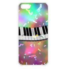 Piano Keys Music Colorful 3d Apple Iphone 5 Seamless Case (white)