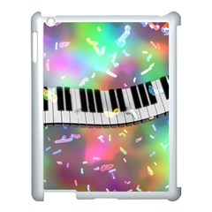 Piano Keys Music Colorful 3d Apple Ipad 3/4 Case (white)