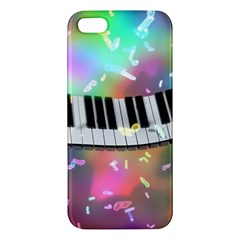 Piano Keys Music Colorful 3d Apple Iphone 5 Premium Hardshell Case