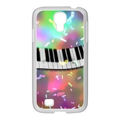 Piano Keys Music Colorful 3d Samsung Galaxy S4 I9500/ I9505 Case (white)