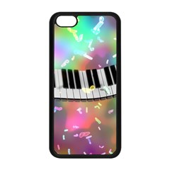 Piano Keys Music Colorful 3d Apple Iphone 5c Seamless Case (black)