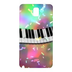 Piano Keys Music Colorful 3d Samsung Galaxy Note 3 N9005 Hardshell Back Case