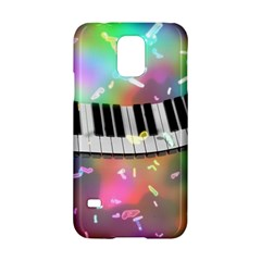 Piano Keys Music Colorful 3d Samsung Galaxy S5 Hardshell Case