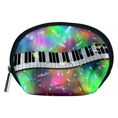 Piano Keys Music Colorful 3d Accessory Pouches (medium)