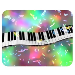 Piano Keys Music Colorful 3d Double Sided Flano Blanket (medium)