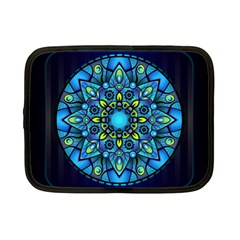 Mandala Blue Abstract Circle Netbook Case (small)