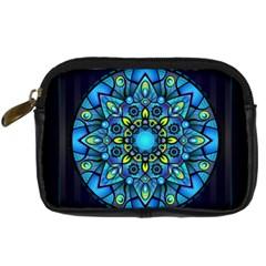 Mandala Blue Abstract Circle Digital Camera Cases