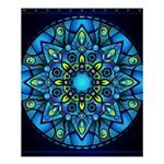 Mandala Blue Abstract Circle Shower Curtain 60  x 72  (Medium)  54.25 x65.71 Curtain