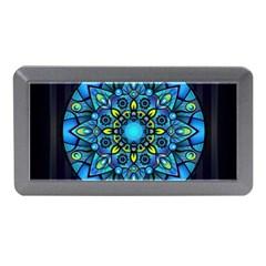 Mandala Blue Abstract Circle Memory Card Reader (mini)