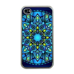 Mandala Blue Abstract Circle Apple Iphone 4 Case (clear)