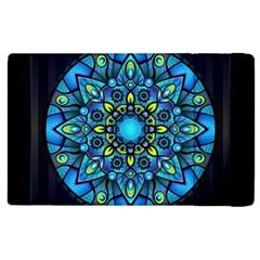 Mandala Blue Abstract Circle Apple Ipad 2 Flip Case