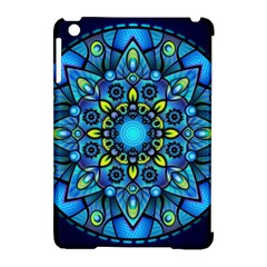 Mandala Blue Abstract Circle Apple Ipad Mini Hardshell Case (compatible With Smart Cover)