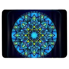 Mandala Blue Abstract Circle Samsung Galaxy Tab 7  P1000 Flip Case