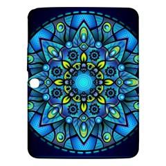 Mandala Blue Abstract Circle Samsung Galaxy Tab 3 (10 1 ) P5200 Hardshell Case