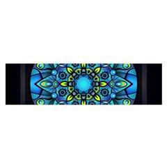 Mandala Blue Abstract Circle Satin Scarf (oblong)