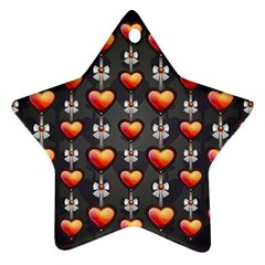 Love Heart Background Ornament (star)