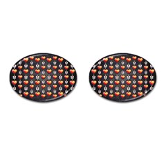Love Heart Background Cufflinks (oval)