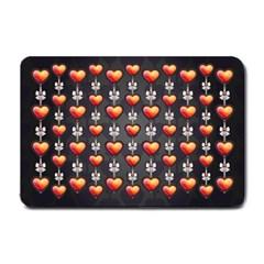 Love Heart Background Small Doormat
