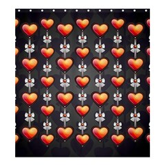 Love Heart Background Shower Curtain 66  X 72  (large)