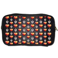 Love Heart Background Toiletries Bags 2 Side
