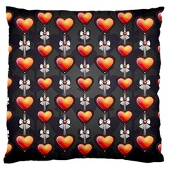 Love Heart Background Large Cushion Case (one Side)