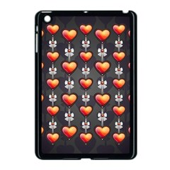 Love Heart Background Apple Ipad Mini Case (black)