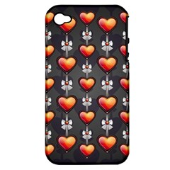 Love Heart Background Apple Iphone 4/4s Hardshell Case (pc+silicone)