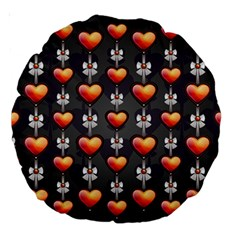 Love Heart Background Large 18  Premium Round Cushions