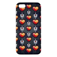 Love Heart Background Apple Iphone 5 Premium Hardshell Case