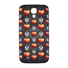Love Heart Background Samsung Galaxy S4 I9500/i9505  Hardshell Back Case