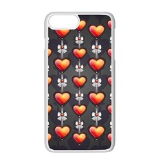 Love Heart Background Apple Iphone 7 Plus Seamless Case (white)