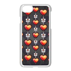 Love Heart Background Apple Iphone 7 Seamless Case (white)