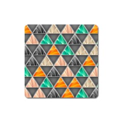 Abstract Geometric Triangle Shape Square Magnet