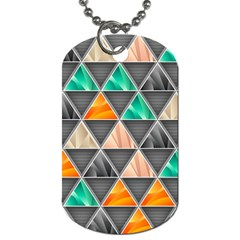 Abstract Geometric Triangle Shape Dog Tag (two Sides)