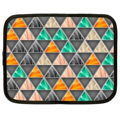 Abstract Geometric Triangle Shape Netbook Case (large)