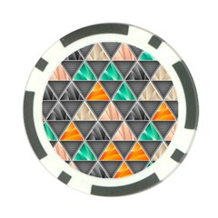 Abstract Geometric Triangle Shape Poker Chip Card Guard (10 Pack)
