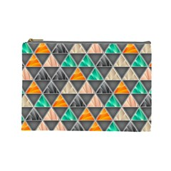 Abstract Geometric Triangle Shape Cosmetic Bag (large)