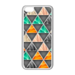 Abstract Geometric Triangle Shape Apple Iphone 5c Seamless Case (white)
